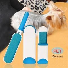 3Pcs Pet Fur Remover Household Lint Remover Mini Dog Hair Cleaner Brushes white&blue 30*5.5cm