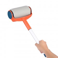 Portable DIY Painting Tool Paint Roller Brush Long Handle Wall Painting Tool
