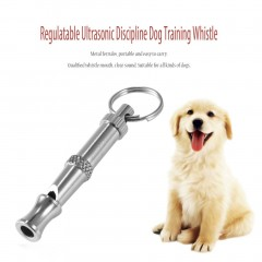 Adjustable Whistle Sound with Keychain Pet Training Stainless Steel Whistle