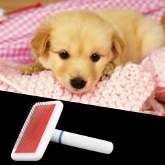 Pet Puppy Dog Cat Hair Grooming Trimmer Flea Comb Gilling Brush Slicker Tool random 10*5.6 cm