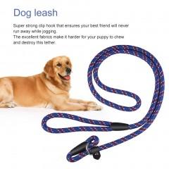 Best Soft Dog Training Leash Chew Resistant Nylon Ergonomic Anti Slip Grip blue 1340*10mm