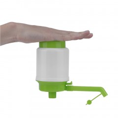 Bottled Drinking Water Pump Hand Press Manual Pump Dispenser Pump Faucet Tool green&white 190*75*75mm
