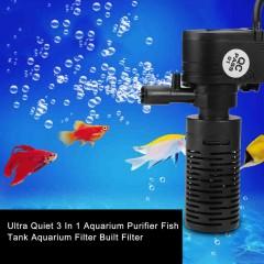 Ultra Quiet 3 In 1 Aquarium Purifier Fish Tank Aquarium Filter Built Filter