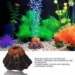 Fish Tank Aquarium Rockery Volcano Shape Air Bubble Stone Ornament Decoration