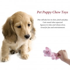 Pet Puppy Chew Squeaker Squeaky Plush Sound 3 Different Animal Shape  for Gift