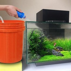 Aquarium Fish Tank Water Exchange Gravel Cleaner Tool Suction Pipe Accessories