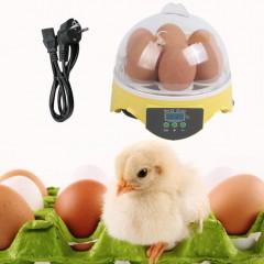 7 Eggs Digital Eggs Incubator For Poultry Ducks Chicken Eggs Hatcher EU Plug transparent 16.5*16.5cm