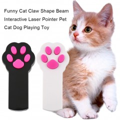 Funny Cat Claw Shape Beam Interactive Laser Pointer Pet Cat Dog Playing Toy