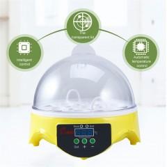 Unique Automatic 7 Eggs Turning Incubator Chicken Hatcher Temperature Control yellow 17.5*17.5*16cm