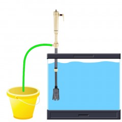 New Electric Siphon Vacuum Cleaner Water Filter Pump for Aquarium Fish Tank