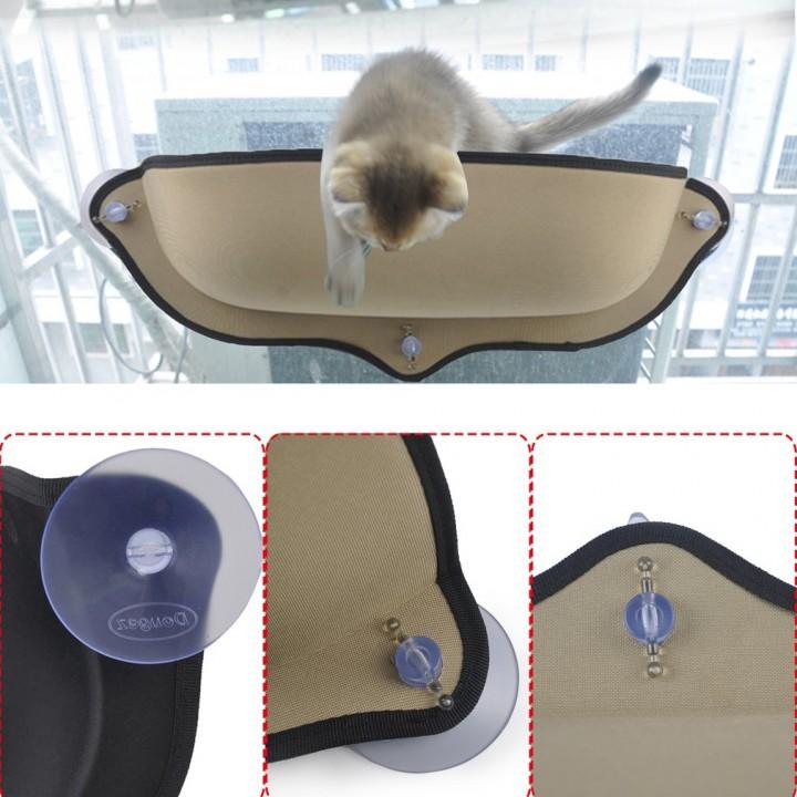 Cat Hammock Cat Perch Window Seat Suction Cups Soft Cat Resting Sunbath Bed