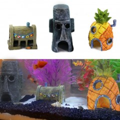 3 in 1 Unique Design Fish Tank Aquarium Decoration Pineapple House
