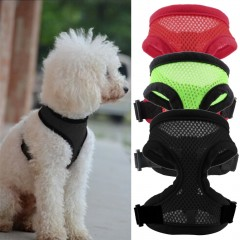 Pet Harness Collar Leash Strap Mesh Dog Cat Adjustable Vest Breathable Puppy