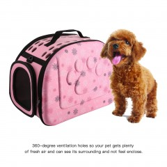 Lovely Floral Soft EVA Portable Pet Bag Breathable Outdoor Carrier Pet Bag