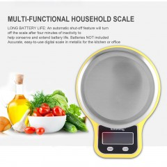 Electronic Digital Home Kitchen Food Scale 1g-5kg with Green Backlight Bowl