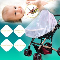 Summer Infants Baby Stroller Pushchair Anti-Insect Mosquito Net Safe Mesh White