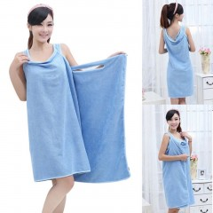 Summer Super Soft Women Microfiber Able Wear Bath Robes Towel for Home Beach