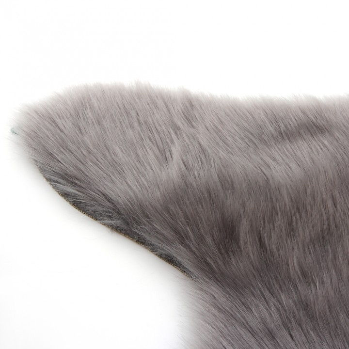 Super Soft Faux Sheepskin Chair Cover Warm Hairy Carpet Seat Pad Fluffy Rugs gray 60cm*90cm