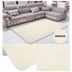 Fiber House Living Room Bedroom Carpet Anti-Skid Shaggy Area Rug Floor Mat beige 80*120cm