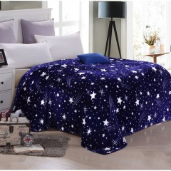 Bright Stars Soft Warm Plush Flannel Sleep Couch Blanket Bedding For Sofa Bed