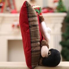 Comfortable Christmas Linen Pillow Soft Cushion Home Bedroom Sofa Decoration