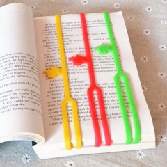 1pc Soft Silicone Pointing Finger Bookmarks Stationery Book Mark Funny Gift