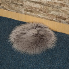 Plush Round Carpet Throw Rug Anti-Skid Shaggy Area Rug Soft Floor Mat Rug