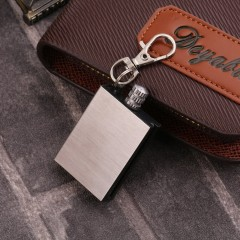 Survival Camping Emergency Fire Starter Flint Match Lighter Key Chain Square silver 3.8*2.7*1cm