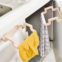 Portable Garbage Bag Holder Rack Hanging Kitchen Door Back Type Clip Stand