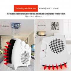 Portable Electric Heater Bathroom Warm Air Blower Fan Home Heater 800W