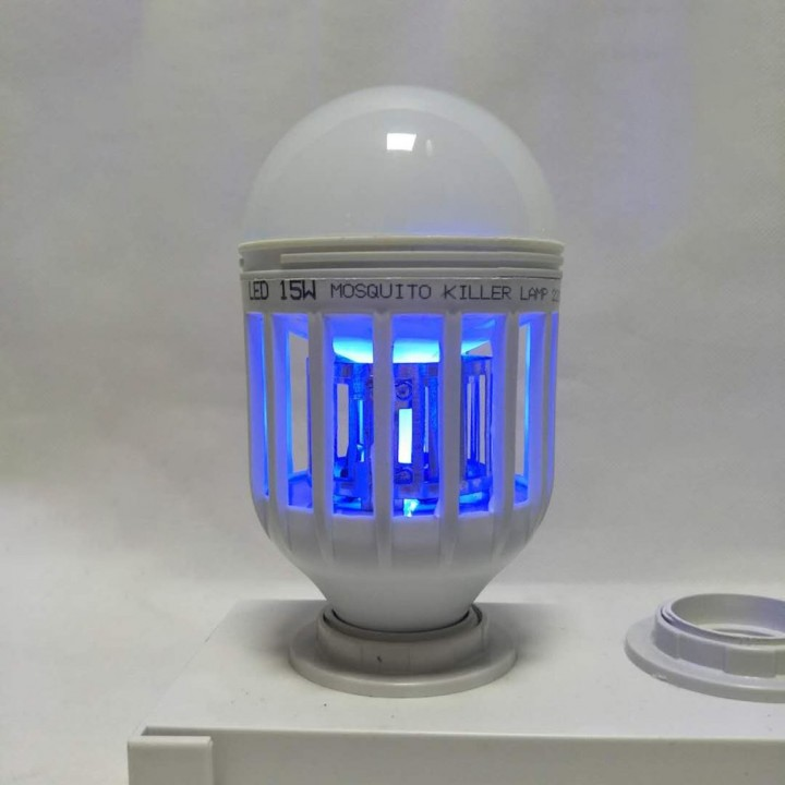 LED Bulb Mosquito Electronic Killer Night Light Lamp Insect Flies Repellent white 76*76*155mm