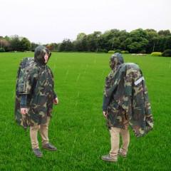 Multi-function Unisex Raincoat Backpack Raincover Poncho Picnic Ground Mat