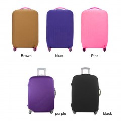 Travel High Elastic Solid Color Dust-proof Luggage Suitcase Protective Cover