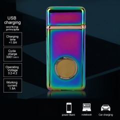 USB Rechargeable Flameless Electric Double Arc Windproof  Cigarette Lighter