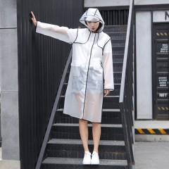 Transparent Frosted Raincoat Waterproof Fashion Rain Poncho For Women Man