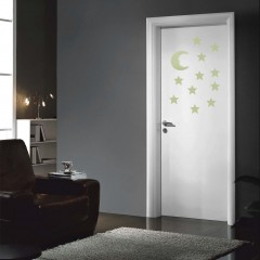 Stars Moon Glow In The Dark Fluorescent Decal Wall Stickers Home Decoration