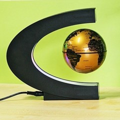 Levitation Anti Gravity Globe Magnetic Floating Globe World Map with LED Light Gold