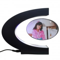 C-shaped Magnetic Floating Picture Photo Frame Home Decor Birthday Gift