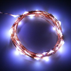 5M 50LED String Fairy Light Battery Box Operated Xmas Lights Party Decor