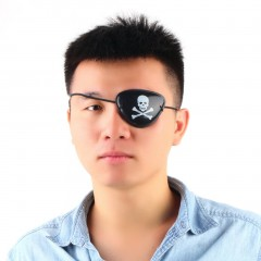 Pirate Eye Patch Skull Crossbone Halloween Party Favor Bag Costume Kids Toy black one size