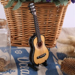 MG-245 Mini Musical Ornaments Wooden Craft Miniature Guitar for Home Decor