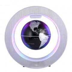 4 Inch LED World Map Novelty Magnetic Levitation Floating Globe Map Night Lamp
