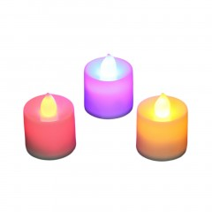 3pcs LED Electronic Flameless Smokeless Candle Lights With Remote Control white 3.5cm
