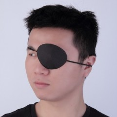Black Medical Use Concave Eye Patch Groove Washable Eyeshades Adjustable Strap black 8.3*6.5cm(L*W)