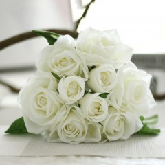 Pretty Lovely Cute Artificial Rose Flower Beautiful Wedding Bridal Bouquet