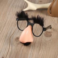 Glasses Mustache Fake Nose Clown Fancy Dress up Costume Props Fun Party Favor