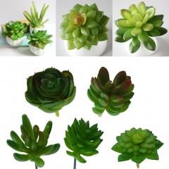 3PCS Artificial Mini Plastic Miniature Succulents Plants Art Garden Home Decor Green