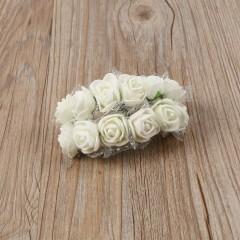 144pcs DIY PE Artificial Foam Rose Head Flowers Wedding Party Bouquet Craft