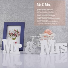 White Mr & Mrs Wooden Letters for Wedding Decoration Sign Top Table Present Decor white 8cm*35cm*1.2cm