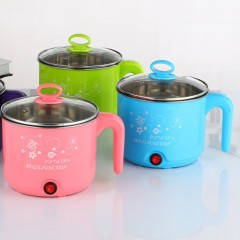 1.8L Stainless Steel Electric Cooker with Steamer Hot Pot Rice Cooker Soup Pot